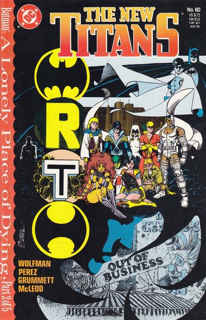 DC The New Titans #60 Comic Book