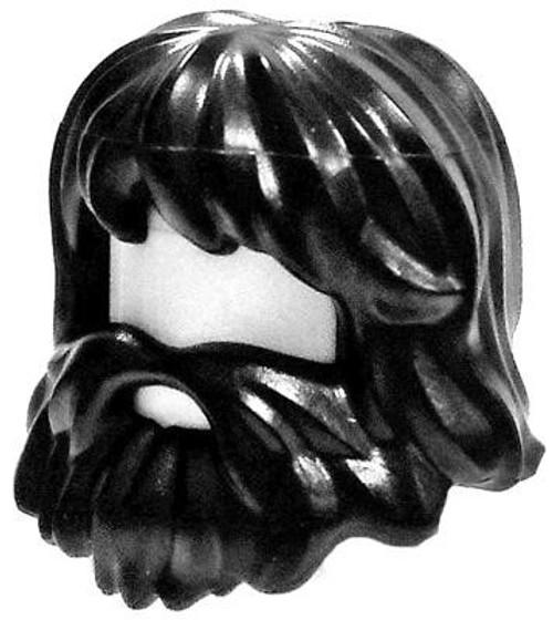 LEGO Black Scraggly Beard & Hair (Castaway) Loose Hair [Loose]