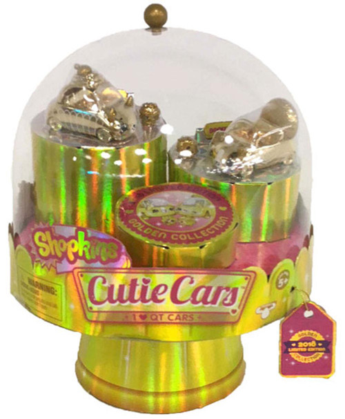 Shopkins Cutie Cars 24 Carat Bling Gold Finish Exclusive Figure 2-Pack