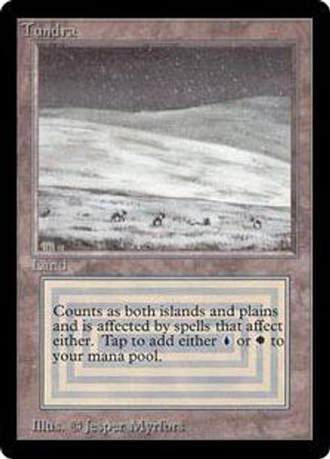 MtG Beta Rare Tundra [Creased Left Corner] [Heavily Played]