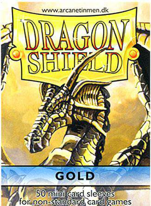 Card Supplies Dragon Shield Gold Small Card Sleeves [50 Count]
