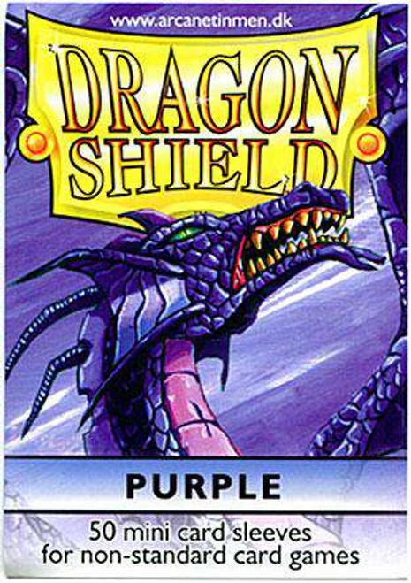 Card Supplies Dragon Shield Purple Small Card Sleeves [50 Count]
