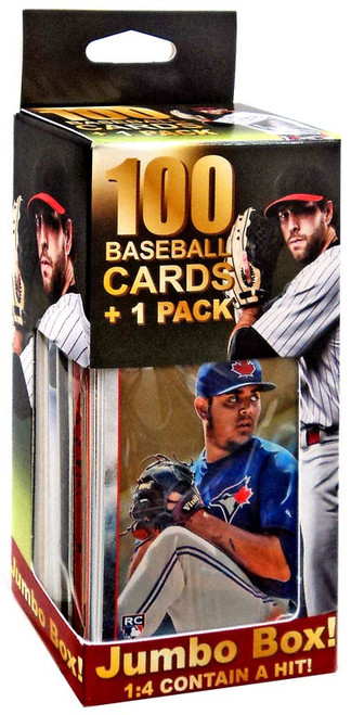 Fairfield 100 Baseball Cards + 1 Pack Trading Card JUMBO Box