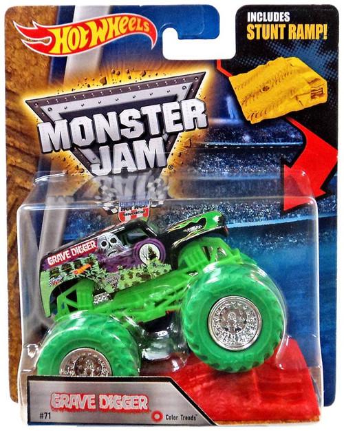 Hot Wheels Monster Jam Grave Digger Diecast Car [Stunt Ramp]