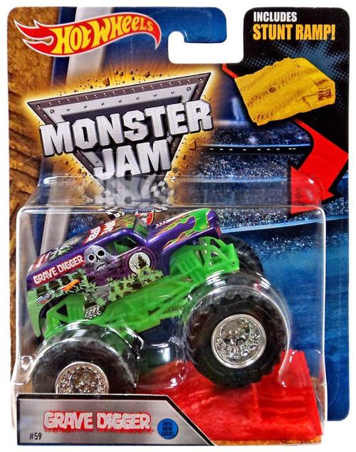 Hot Wheels Monster Jam Grave Digger Diecast Car [Stunt Ramp, Purple]