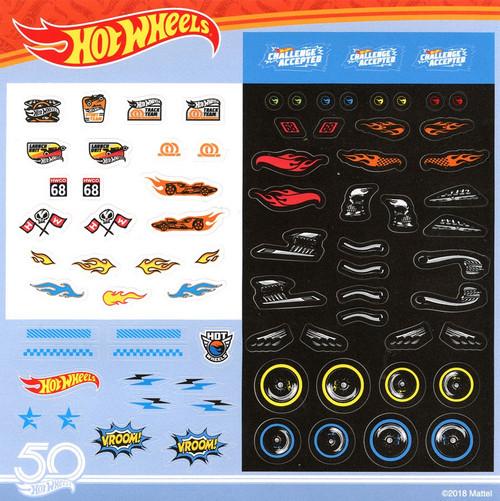 50th Anniversary Hot Wheels Sticker Sheet