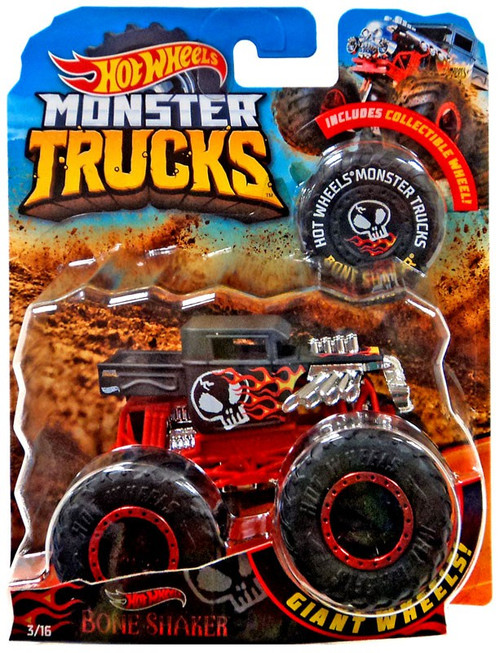 Hot Wheels Monster Trucks Bone Shaker Die-Cast Car [Collectible Wheel]