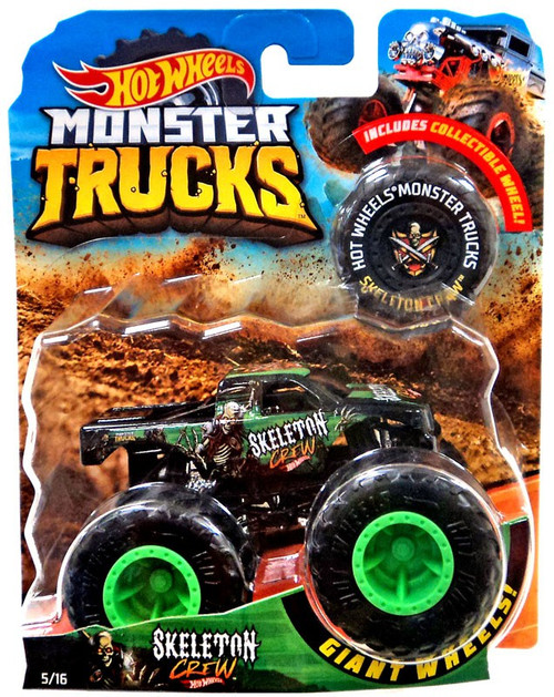 Hot Wheels Monster Trucks Skeleton Crew Diecast Car [1:64]