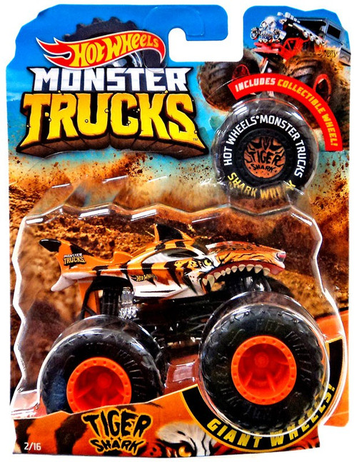 Hot Wheels Monster Trucks Tiger Shark Diecast Car