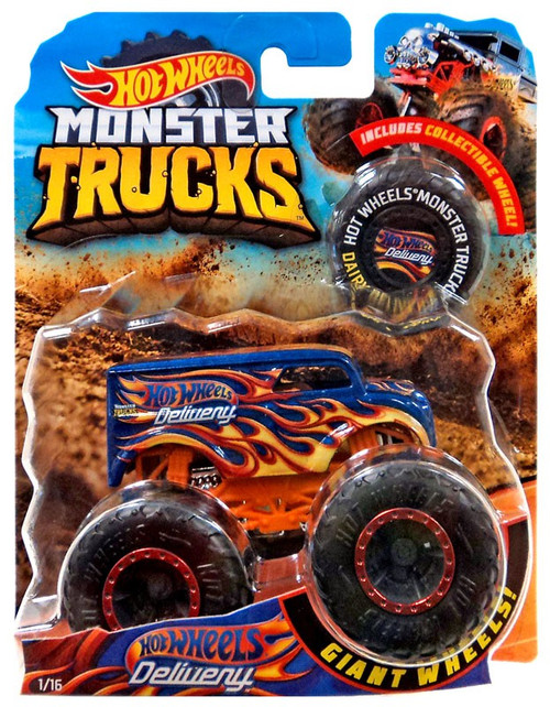 Monster Trucks Hot Wheels Delivery Diecast Car [Collectible Wheel]