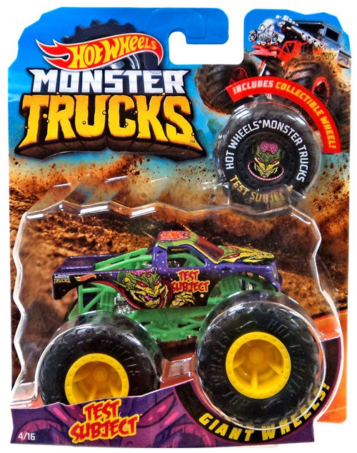 Hot Wheels Monster Trucks Test Subject Die-Cast Car [Collectible Wheel]