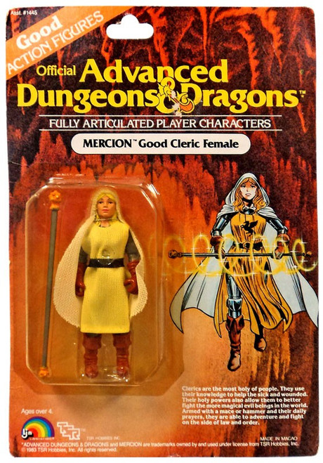 Official Advanced Dungeons & Dragons Good Action Figures Mercion Good Cleric Female Action Figure