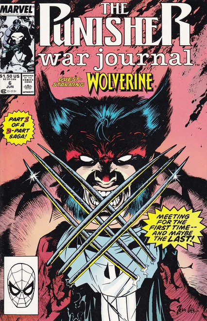 Marvel Comics The Punisher War Journal #6 Comic Book [Guest Starring Wolverine!]