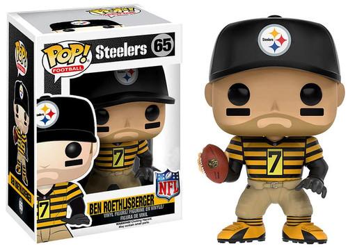 Funko NFL Pittsburgh Steelers POP! Sports Football Ben Roethlisberger Exclusive Vinyl Figure #65 [Throwback Jersey, Damaged Package]