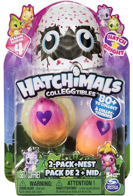 Hatchimals Colleggtibles Season 4 Hatch Bright Mystery 2-Pack + Nest