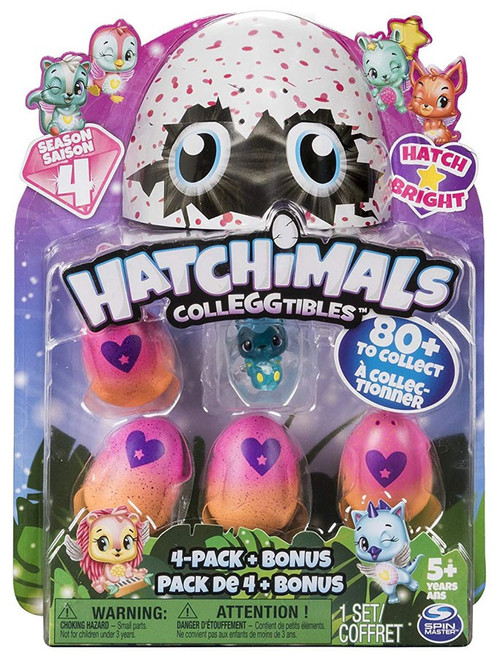 Hatchimals Colleggtibles Season 4 Hatch Bright Mystery 4-Pack