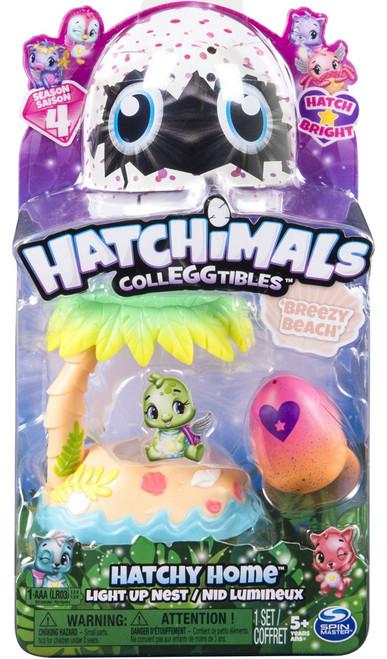 Hatchimals Colleggtibles Season 4 Hatch Bright Light Up Nest Beach Hatchy Home [Breezy Beach]