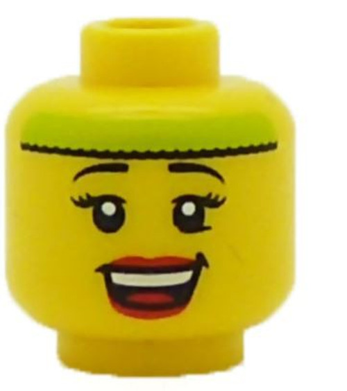Female with Lime Headband Minifigure Head [Loose]