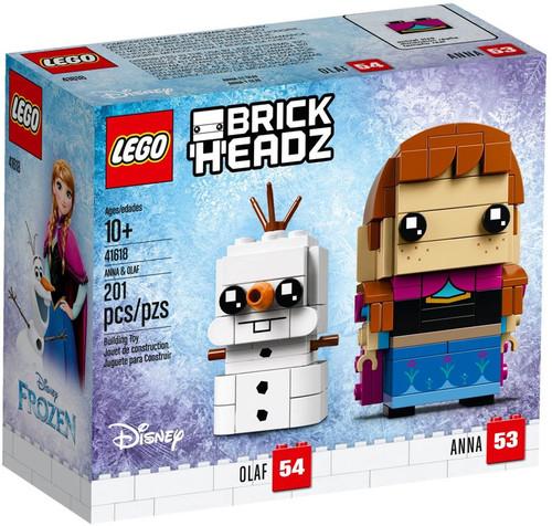 LEGO Disney Frozen Brick Headz Anna & Olaf Set #41618