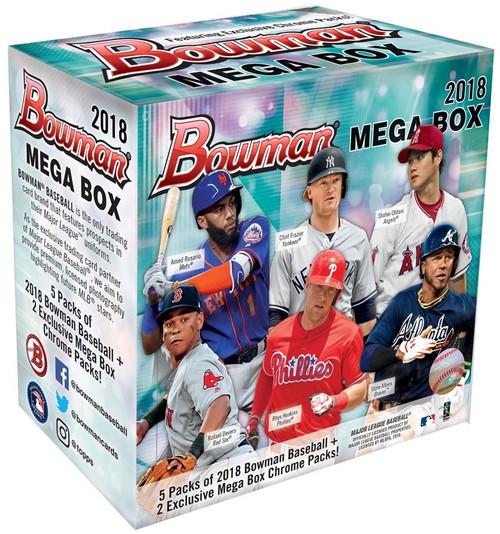 MLB Topps 2018 Bowman Baseball Trading Card MEGA Box [5 Regular & 2 Exclusive Chrome Packs] (Pre-Order ships August)