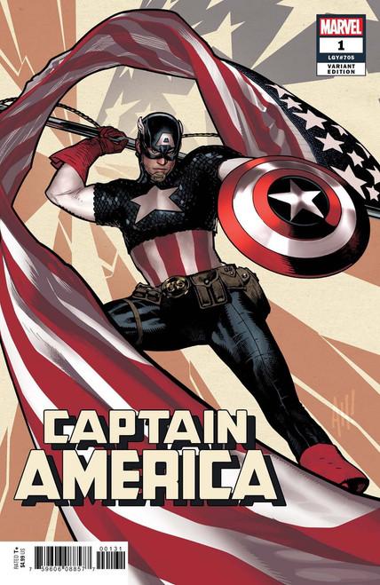Marvel Comics Captain America #1 Comic Book [Hughes Variant Cover]