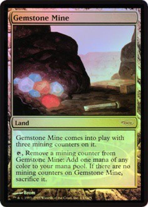 MtG DCI Judge Promo Promo Gemstone Mine [Foil, Signed by Artist Brom]