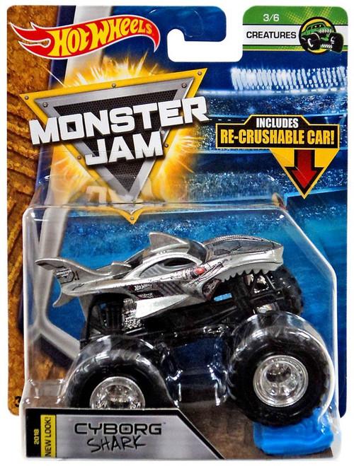 Hot Wheels Monster Jam 25 Cyborg Shark Die-Cast Car #3/6 [Creatures]
