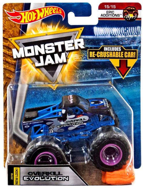 Hot Wheels Monster Jam Overkill Evolution Diecast Car #15/15 [Epic Additions]