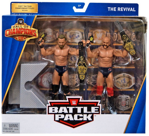 WWE Wrestling Battle Pack Hall of Champions Dash Wilder & Scott Dawson Action Figure 2-Pack [The Revival FTR]