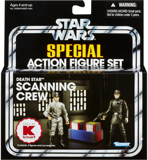 Star Wars A New Hope Vintage Special Death Star Scanning Crew Exclusive Action Figure Set [Imperial Technician & Imperial Officer]