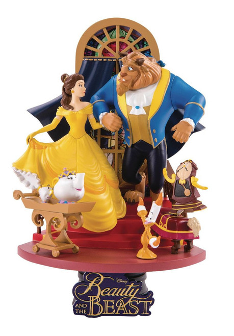 Disney Beauty and the Beast D-Select Belle & The Beast 6-Inch Diorama Statue DS-011