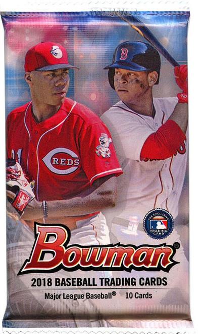 MLB Topps 2018 Bowman Baseball Trading Card Pack [10 Cards]