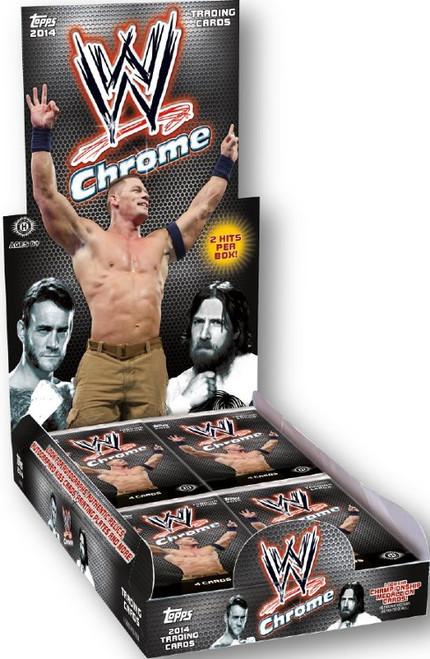 WWE Wrestling Topps 2014 Chrome Trading Card Box [24 Packs]