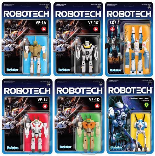 ReAction Robotech Series 1 Set of 6 Action Figures