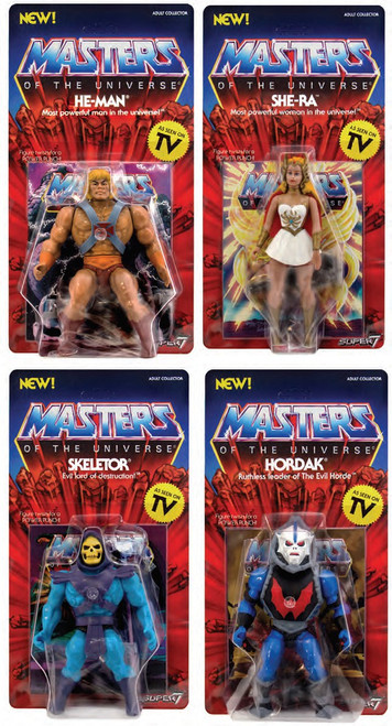 Masters of the Universe Vintage Series 1 Set of 4 Action Figures