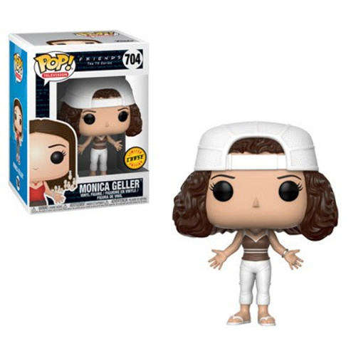 Funko Friends POP! TV Monica with Frizzy Hair Vinyl Figure #704 [White Hat, Chase Version]
