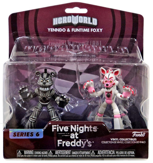 Funko Five Nights at Freddy's Hero World Series 6 Yenndo & Funtime Foxy 4-Inch Vinyl Figure 2-Pack