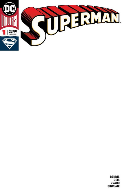 DC Superman #1 Comic Book [Blank Variant]