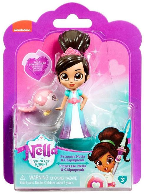 Nickelodeon Nella The Princess Knight Princess Nella & Chipsqueak 3.5-Inch Figure