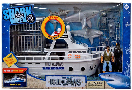 Discovery Shark Week 30th Return to Isle of Jaws Playset [Lights & Sounds]