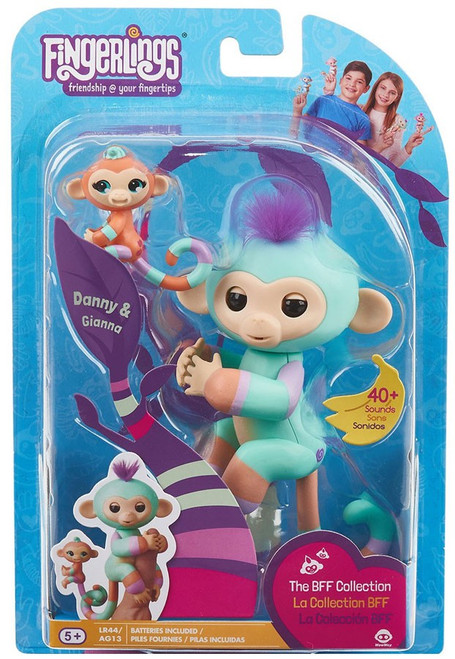 Fingerlings Baby Monkey Danny & Gianna Figure [The BFF Collection]