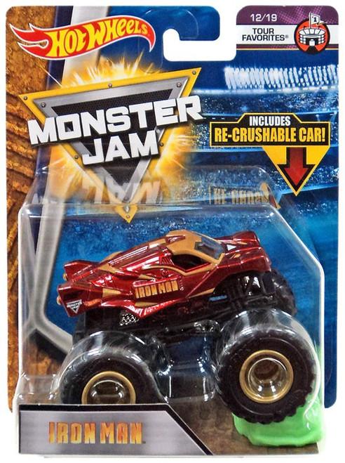 Hot Wheels Monster Jam Iron Man Die-Cast Car #12/19 [Tour Favorites]