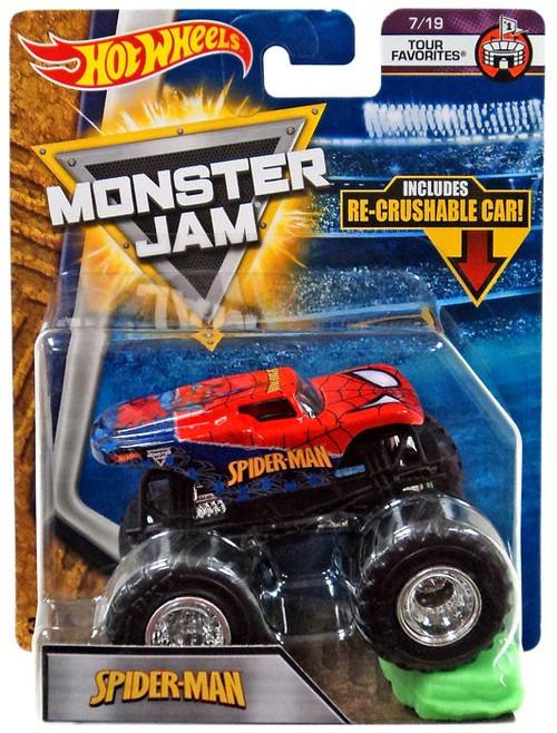 Hot Wheels Monster Jam 25 Spider-Man Die-Cast Car #7/19 [Tour Favorites]