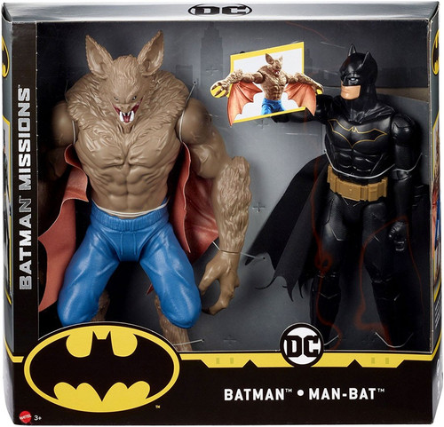DC Batman Missions Batman vs. Man-Bat Action Figure 2-Pack [True Moves]