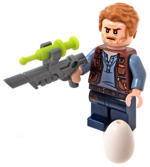 LEGO Jurassic World Fallen Kingdom Owen Grady Minifigure [with Tranquilizer Gun and Dinosaur Egg Loose]