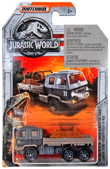 Jurassic World Matchbox Off-Road Rescue Rig Diecast Vehicle