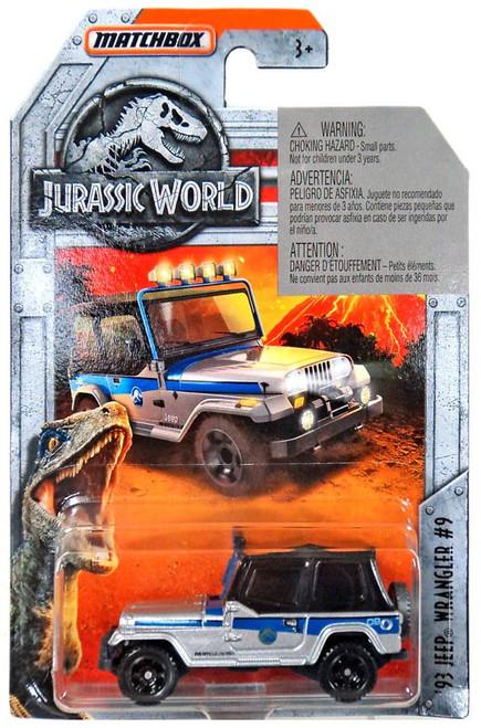 Jurassic World Matchbox '93 Jeep Wrangler #9 Diecast Vehicle