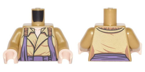 LEGO Gold Open Coat with Dark Purple Straps Loose Torso [Loose]