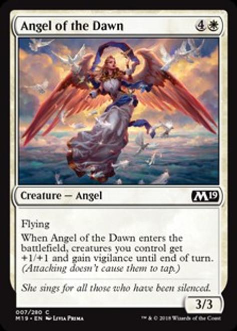 MtG 2019 Core Set Common Angel of the Dawn #7