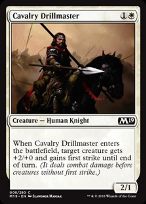 MtG 2019 Core Set Common Cavalry Drillmaster #8